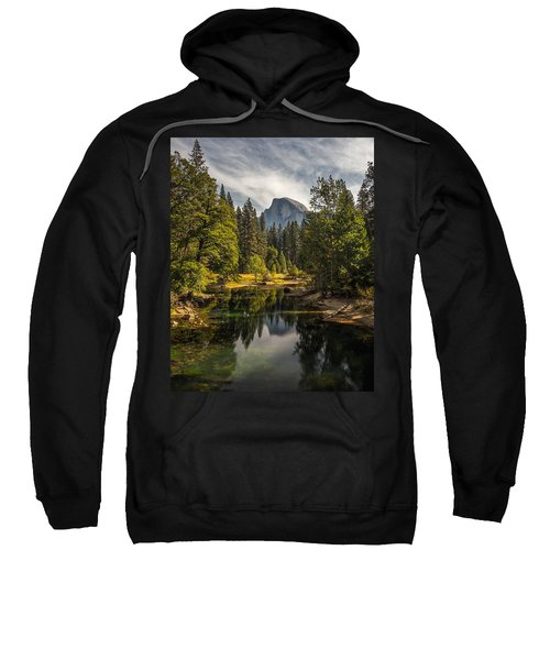 Bridge View Half Dome Sweatshirt by Peter Tellone