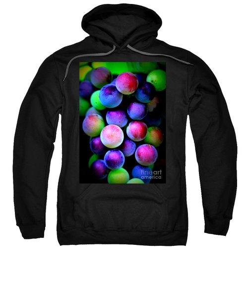 Colorful Grapes - Digital Art Sweatshirt by Carol Groenen