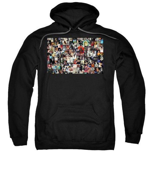 David Bowie Collage Sweatshirt by Taylan Apukovska