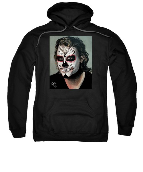 Day Of The Dead - Heath Ledger Sweatshirt by Tom Carlton