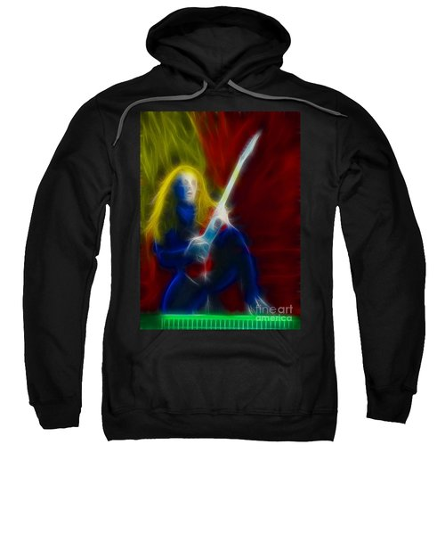 Def Leppard-adrenalize-ga5-vivian-fractal Sweatshirt by Gary Gingrich Galleries