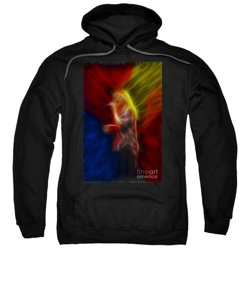 Def Leppard-adrenalize-joe-ga25-fractal Sweatshirt by Gary Gingrich Galleries