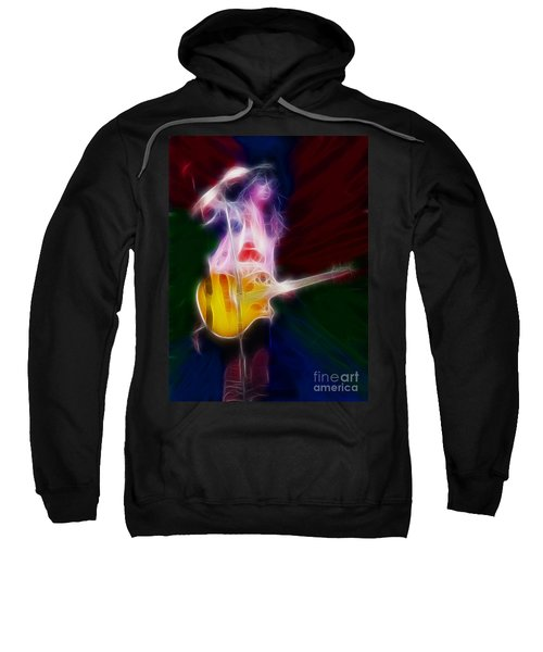 Deff Leppard-adrenalize-joe-gf25-fractal Sweatshirt by Gary Gingrich Galleries