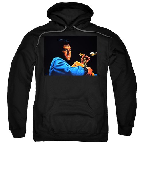 Elvis Presley 2 Painting Sweatshirt by Paul Meijering