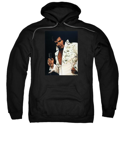 Elvis Presley Painting Sweatshirt by Paul Meijering