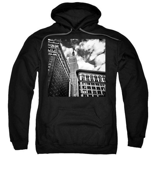 Empire State Building And New York City Skyline Sweatshirt by Vivienne Gucwa