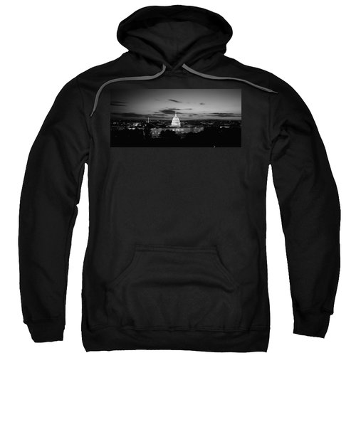 Government Building Lit Up At Night, Us Sweatshirt by Panoramic Images