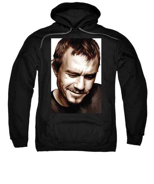 Heath Ledger Artwork Sweatshirt by Sheraz A