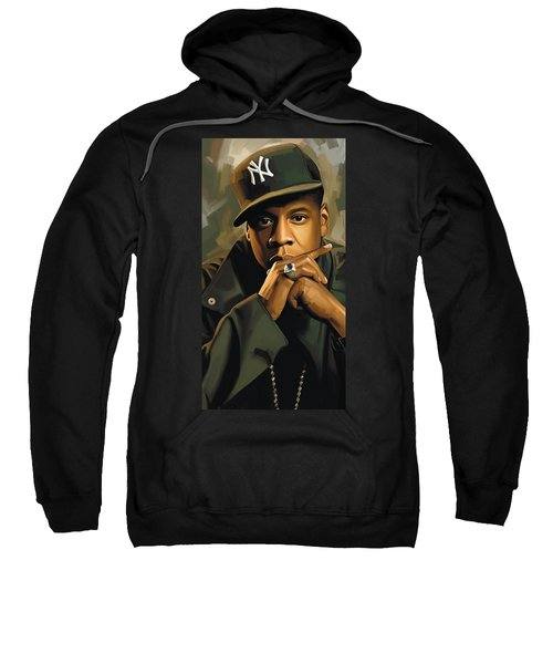Jay-z Artwork 2 Sweatshirt by Sheraz A