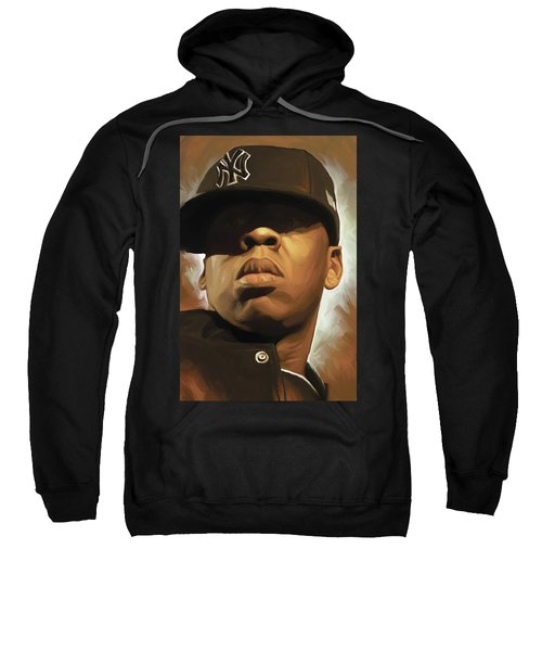 Jay-z Artwork Sweatshirt by Sheraz A
