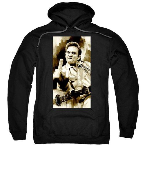Johnny Cash Artwork 2 Sweatshirt by Sheraz A