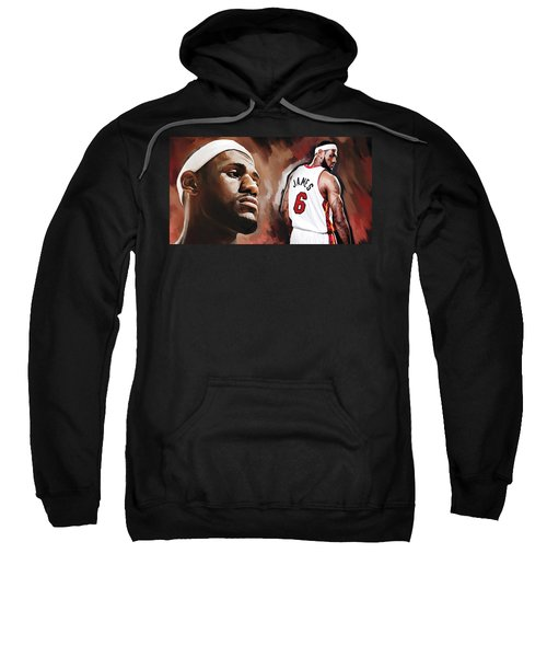 Lebron James Artwork 2 Sweatshirt by Sheraz A