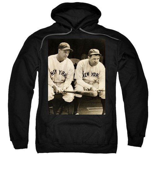 Lou Gehrig And Babe Ruth Sweatshirt by Bill Cannon