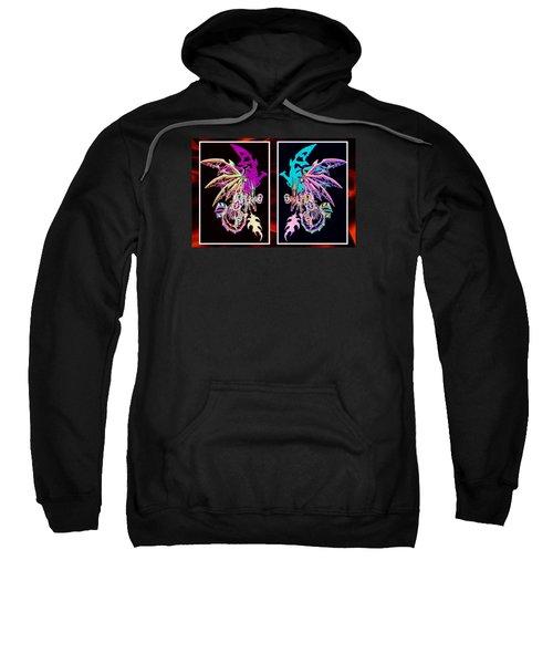Mech Dragons Pastel Sweatshirt by Shawn Dall