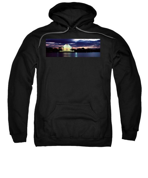 Monument Lit Up At Dusk, Jefferson Sweatshirt by Panoramic Images