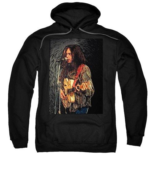 Neil Young Sweatshirt by Taylan Soyturk