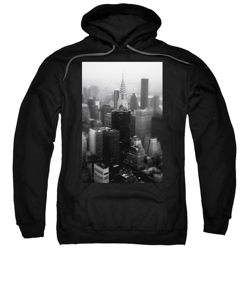 New York City - Fog And The Chrysler Building Sweatshirt by Vivienne Gucwa
