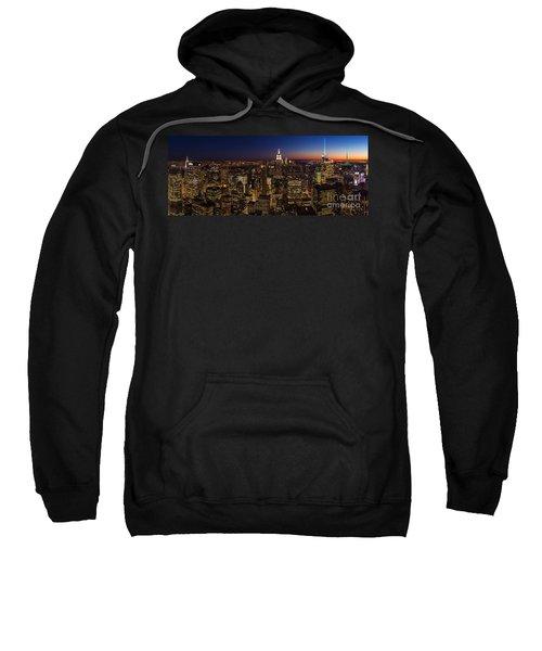 New York City Skyline At Dusk Sweatshirt by Mike Reid