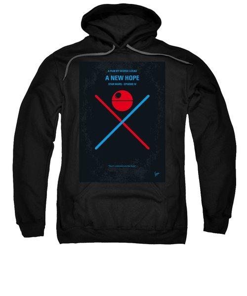 No154 My Star Wars Episode Iv A New Hope Minimal Movie Poster Sweatshirt by Chungkong Art