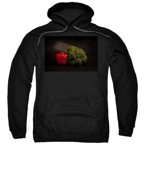 Pepper Nd Brocoli Sweatshirt by Peter Tellone