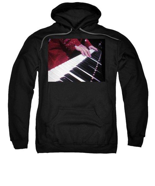 Piano Man At Work Sweatshirt by Aaron Martens