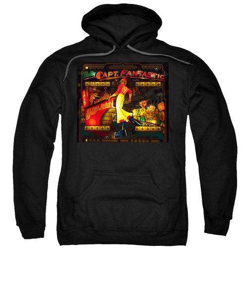 Pinball Machine Capt. Fantastic Sweatshirt by Terry DeLuco