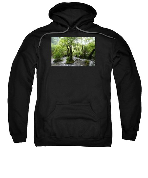 Sweatshirt featuring the photograph Plitvice Lakes by Travel Pics
