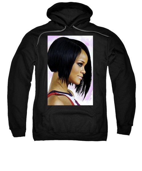 Rihanna Artwork Sweatshirt by Sheraz A