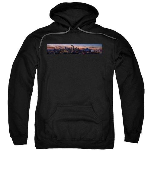 Seattle Cityscape Morning Light Sweatshirt by Mike Reid