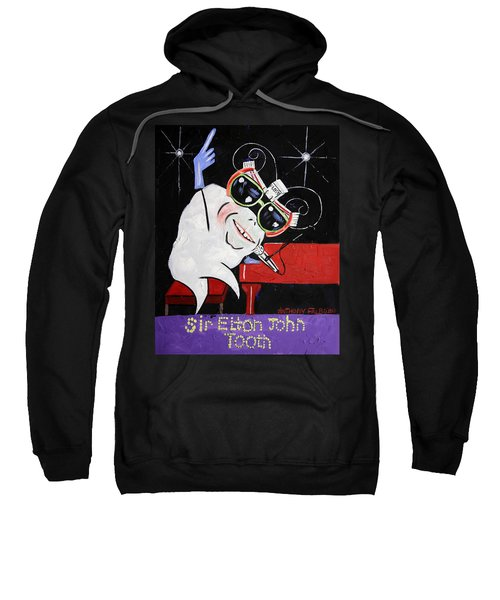 Sir Elton John Tooth  Sweatshirt by Anthony Falbo