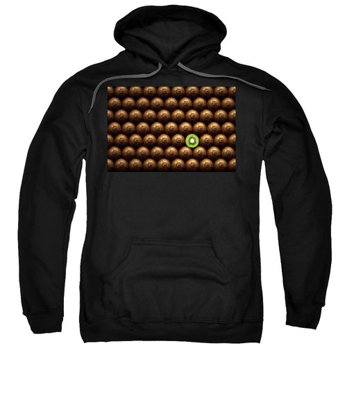 Sliced Kiwi Between Group Sweatshirt by Johan Swanepoel