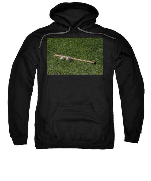 Softball Baseball And Bat Sweatshirt by Bill Cannon