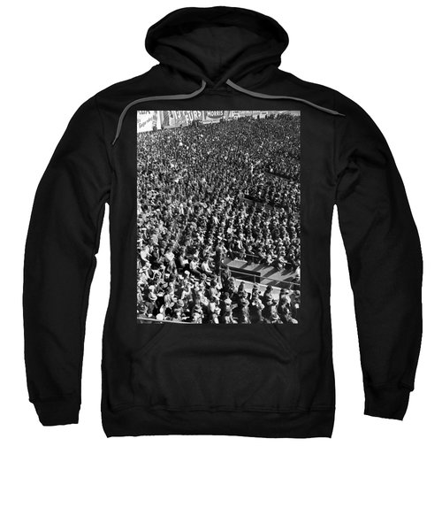 Baseball Fans At Yankee Stadium In New York   Sweatshirt by Underwood Archives