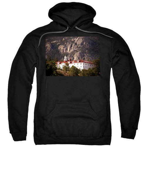 Stanley Hotel Estes Park Sweatshirt by Marilyn Hunt