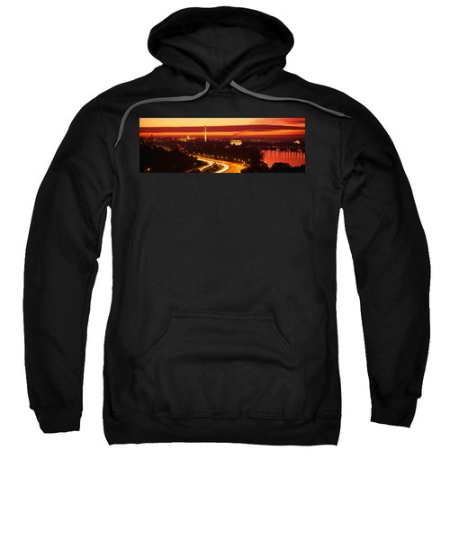 Sunset, Aerial, Washington Dc, District Sweatshirt by Panoramic Images