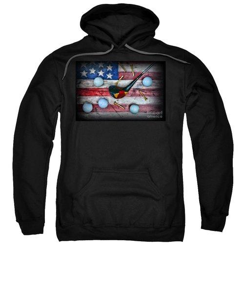 The All American Golfer Sweatshirt by Paul Ward