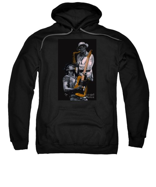 New Jersey's Bruce And Clarence Sweatshirt by Thomas J Herring
