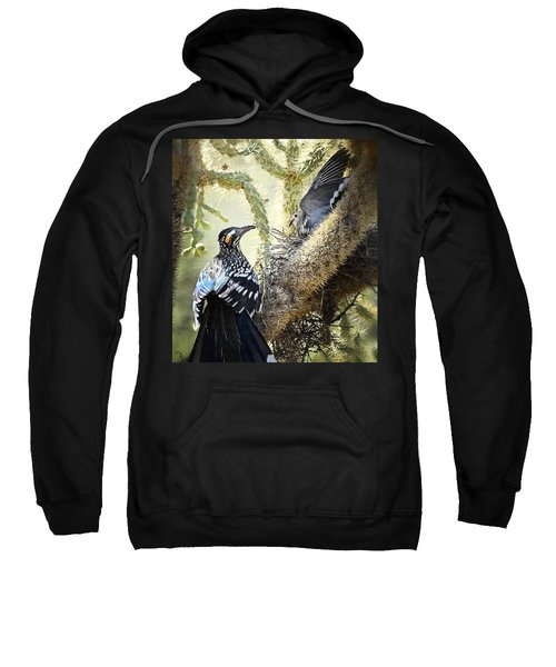 The Dove Vs. The Roadrunner Sweatshirt by Saija  Lehtonen