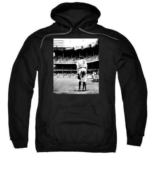 The Greatest Of All  Babe Ruth Sweatshirt by Iconic Images Art Gallery David Pucciarelli
