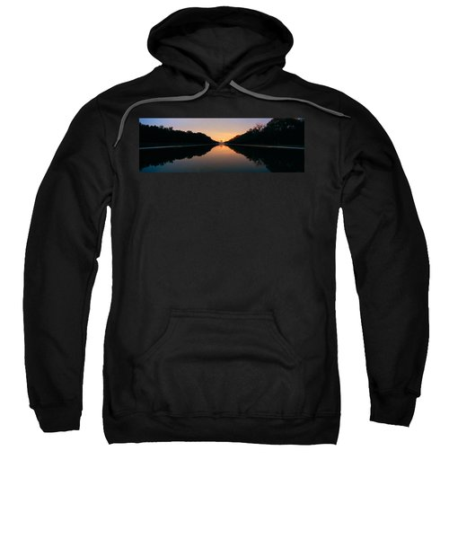 The Lincoln Memorial At Sunset Sweatshirt by Panoramic Images