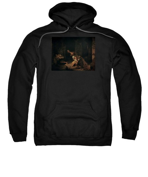 The Prisoner Of Chillon Sweatshirt by Ferdinand Victor Eugene Delacroix