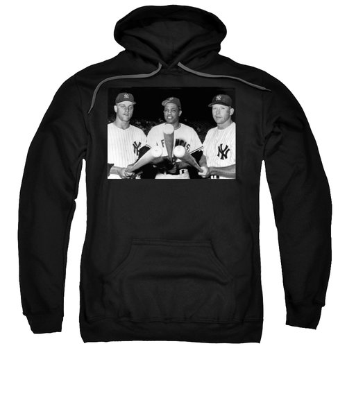 Three Slugging Outfielders Sweatshirt by Underwood Archives