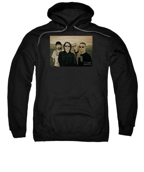 U2 Silver And Gold Sweatshirt by Paul Meijering