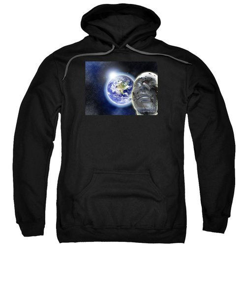 Alone In The Universe Sweatshirt by Stefano Senise