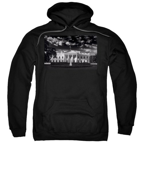 White House Sunrise B W Sweatshirt by Steve Gadomski