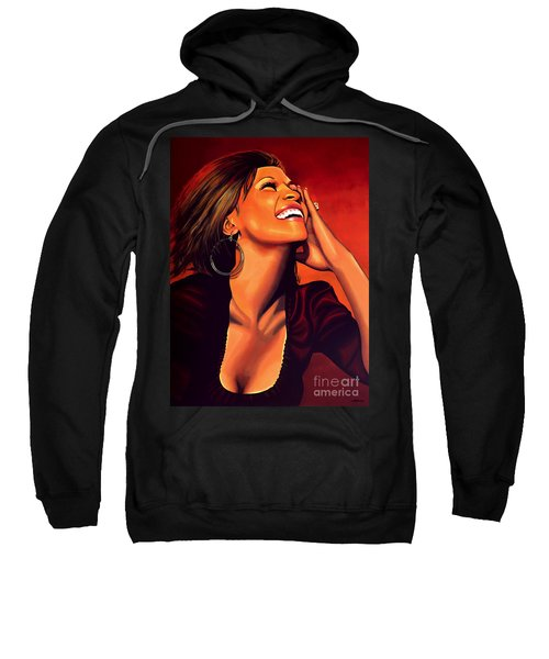Whitney Houston Sweatshirt by Paul Meijering