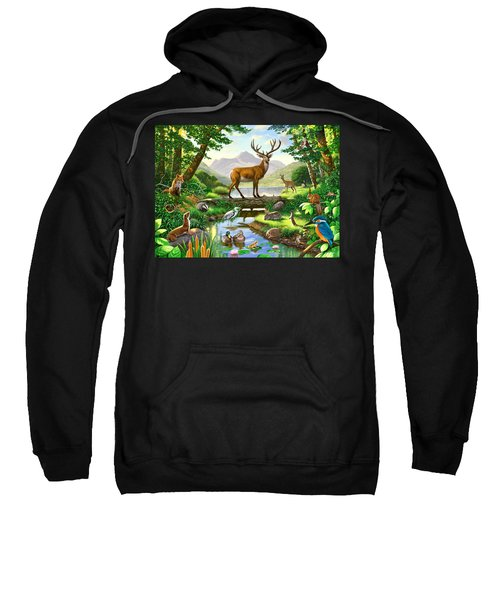 Woodland Harmony Sweatshirt by Chris Heitt