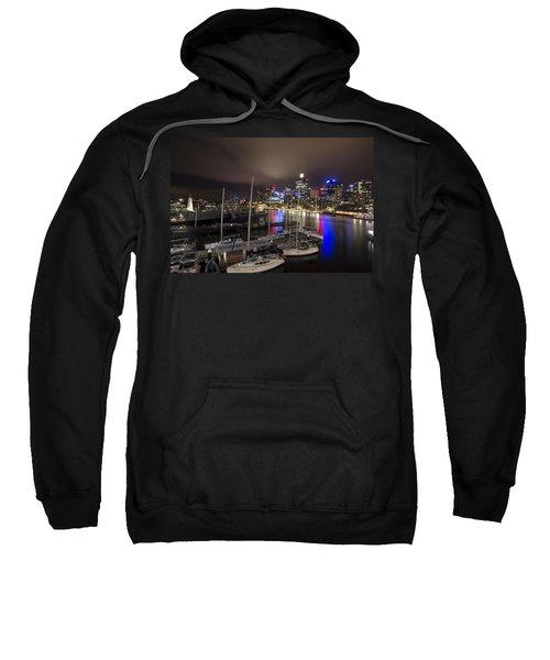 Darling Harbor Sydney Skyline 2 Sweatshirt by Douglas Barnard
