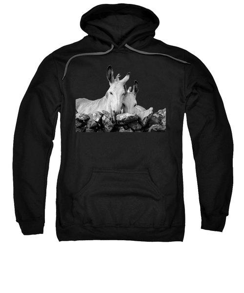 Two White Irish Donkeys Sweatshirt by RicardMN Photography