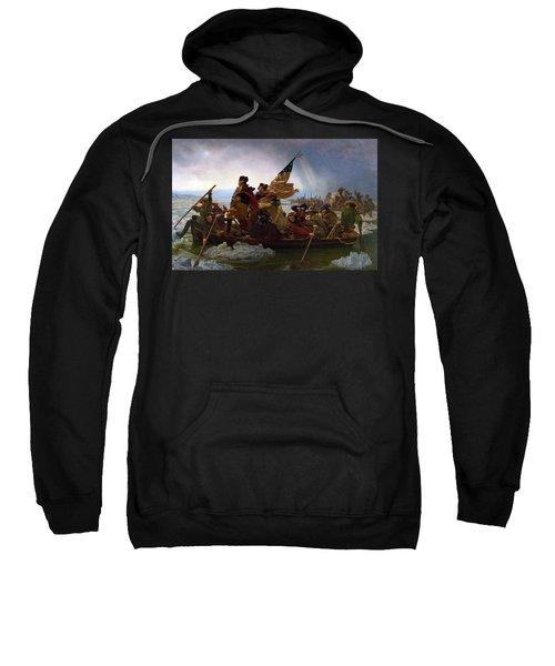 Washington Crossing The Delaware Sweatshirt by Emanuel Leutze